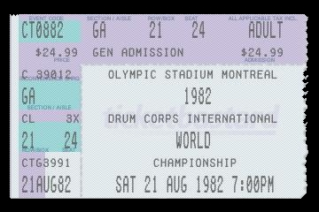 replica copy of ticket to 1982 World DCI Championship