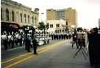 Sky Ryders Drum Corps in Hutchinson, KS parade 1988