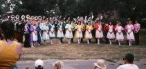 SSky Ryders Colorguard- 1988 posing for photos