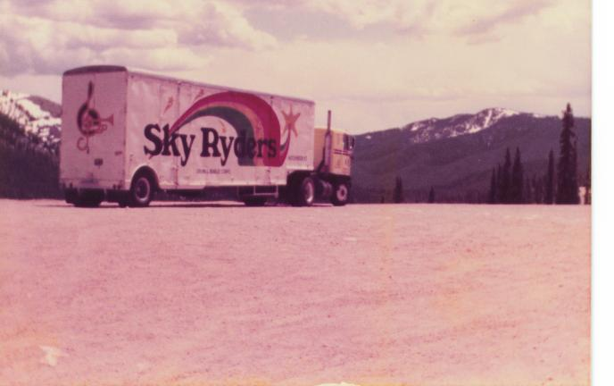 1982 equipment trucknow an 18 wheeler on top of the continental divide in colorado.