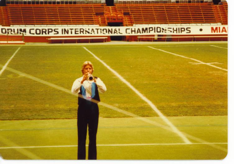 1983 Sky Ryders Unknown Soprano performing at DCI Finals Individual and Ensemble.